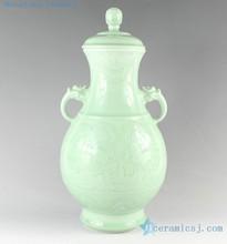 RYKX19 H15 inch home decor Celadon Porcelain decorative jars