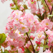 high quality silk artificial cherry blossoms branches decorative artificial cherry blossom tree for sale