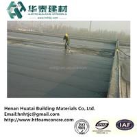 Cast-in-situ foam concrete construction project in building construction
