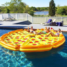 Hottest selling inflatable pizza swimming pool pvc funny inflatable pizza toy
