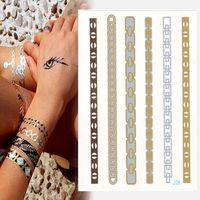 Gold Metallic Jewelry Flash Beauty Tattoo Sticker Luminous Tattoo Stickers Flash Tattoo Galleries