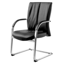 2015 New Design Black Leather Guest Chair for Office Furniture Use