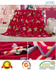 Wholesale funny warm double layer 100 polyester mink fleece woven blanket