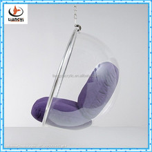 Popular fashionable clear acrylic hanging bubble chair