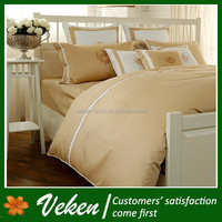 Item No. D-125 80S*100S 800TC Plain 100% Hand Embroidery Egyptian Cotton Bed Sheet