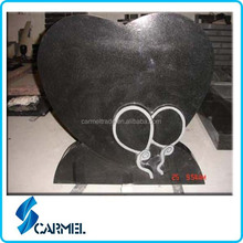 Cheap heart shape granite tombstone pictures