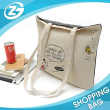 Supply Convenient Long Shoulder Big Travel Cotton Tote Bag