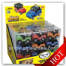 Pull back mini jeep toys