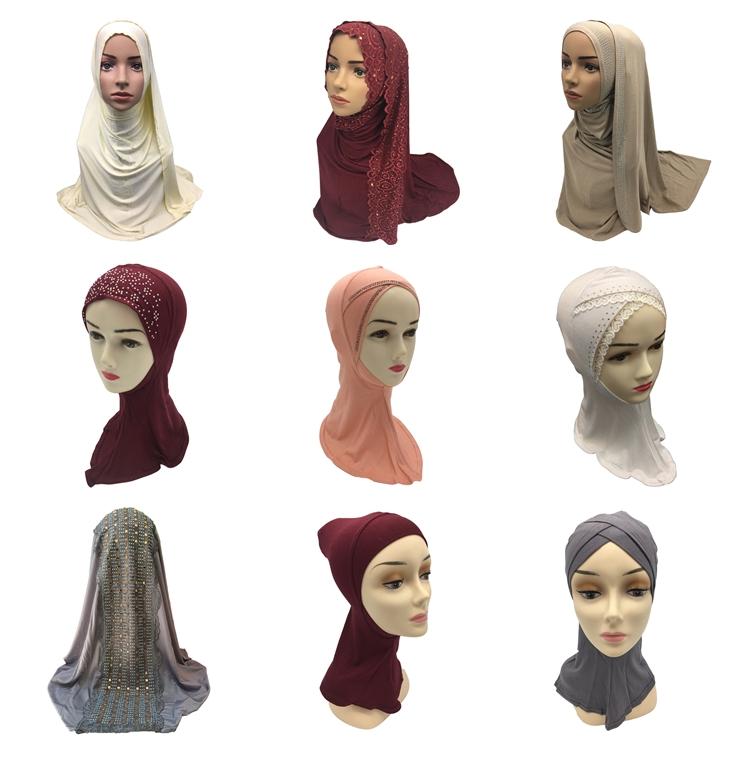 2017 Muslim women arab silk hijab scarf for lady