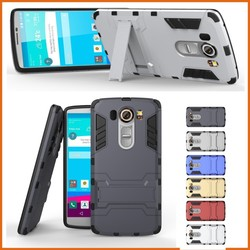 Hybrid pc tpu kickstand slim mobile phone cover for lg leon c40