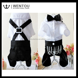 Wholesale new design A pant suit with a bow Pets four-legged pants