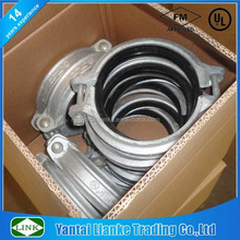 hot dipped galvanized standard grooved joint fittings rigid coupling connector