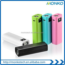Simple-type Portable LED Light Cell Phone Charger 2600mah Power Bank Small Smart Mobile Charger