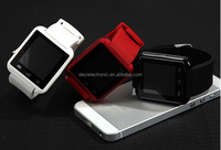 Aesthetic appearance best selling U8 600mah battery android smart watch with free cellphone holder