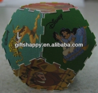 DIY toy 3d puzzle ball