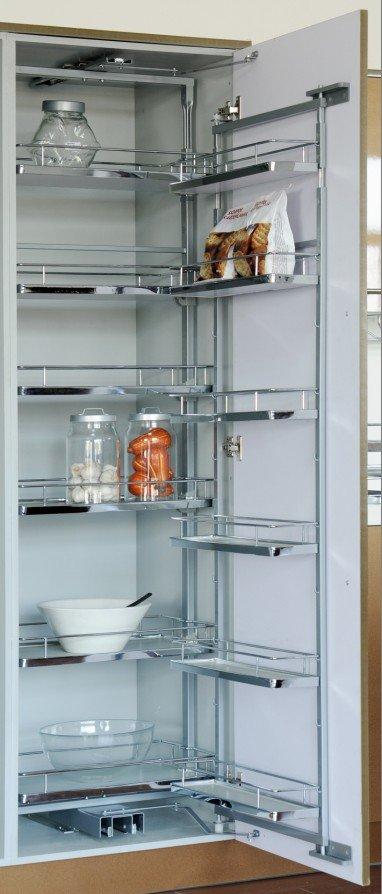 kitchen cabinet food storage wire pantry units view