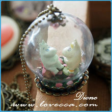 Guangzhou new trend glass ornaments for girl necklace
