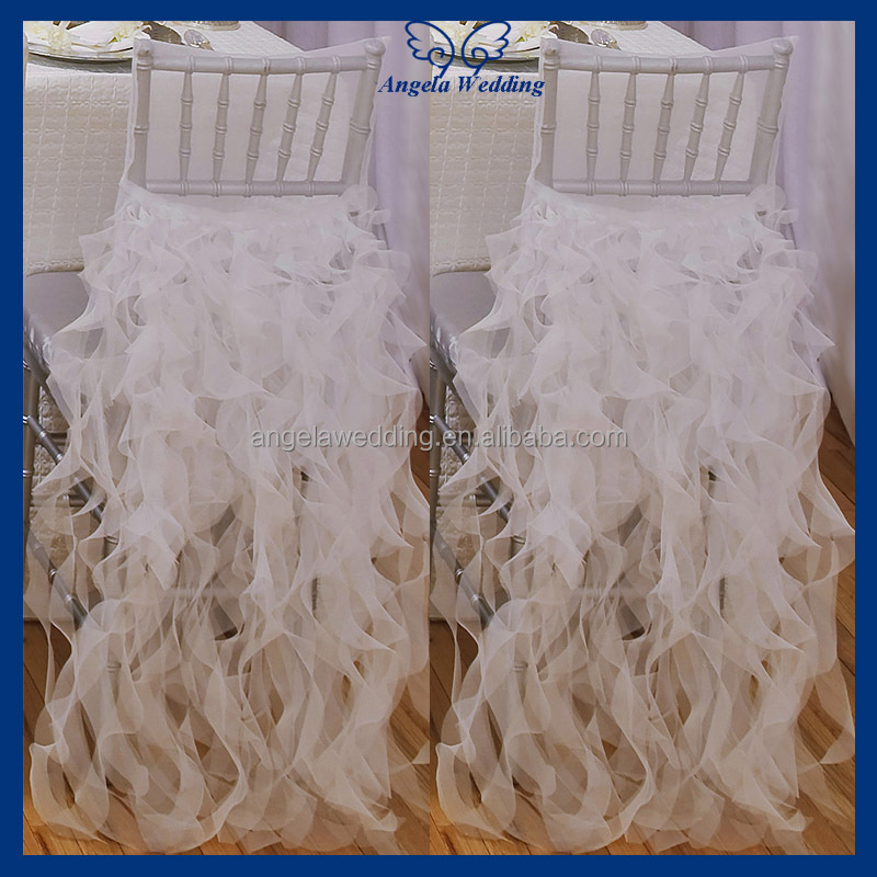 CH017B Hot Sale Luxury Wedding Lavender Chiavari Sequin And Ostrich Feather Chair Covers View