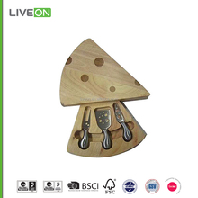 2015 LIVEON 3pcs cheese knife set with cheese cutting board