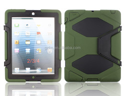 2015 Latest wholesale hard heavy duty waterproof Armour rugged Case Cover For iPad 2 3 4