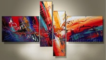 wall hanging hand painted art simple abstract paintings for home decoration