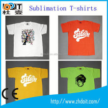 Hot sell sublimated 100% polyester t-shirts