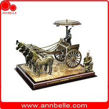 3d puzzle paper 3d puzzle Bronze chariot and horse (China)