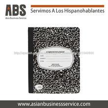 clásico Cuadernos de 100 hojas Negro y blanco
