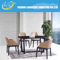 Popular and simple solid wood dining table DT010B,marble dining table