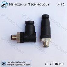"""M12 8 pin male connector waterproof IP67 equal to Binder's"