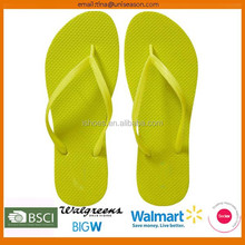 Fashion new design basic style solid color women flat thong flip flop