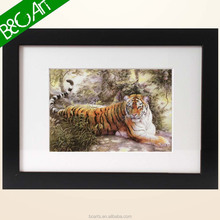 Professional wall art decor lonely tiger print painting wild animal oil painting