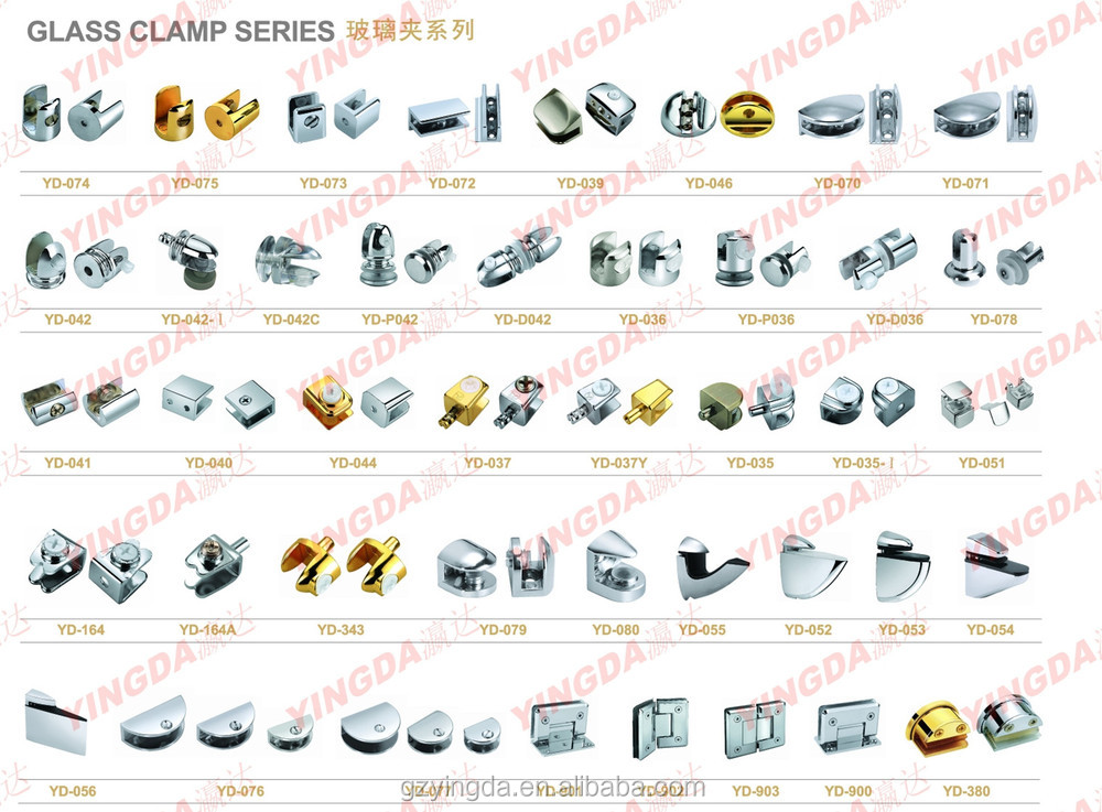 Popular Glass Double Sides Shelf Clampclips For Glass Clip Frame