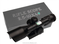 Tactical riflescope 2.5-10x40 with red laser sight/Illuminated Mil Dot Reticle