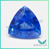 Hot New Product Quartz Gems Crystal Gemstone Price 14.5mm Trillion Shape Sri Lanka Blue Natural Topaz Rough Price