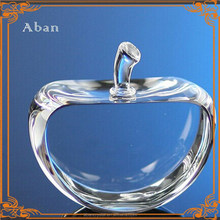 decorative crystal apple ,blank crystal decorations