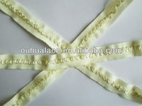 Designed Fold Over Elastic as fabric edge binding