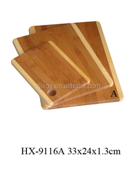 Eco-Friendly Natural Color Large Kitchen Vegetable Bamboo Cutting Board