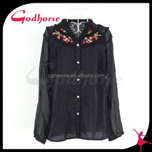 2015 China Wholesale Casual Emboriered Blouse