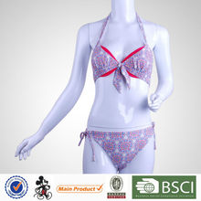 New Design Elegant Triangle Printed Professional Swimming Costumes