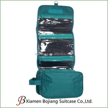 Portable Waterproof Polyester foldable Hanging Toiletry Bag