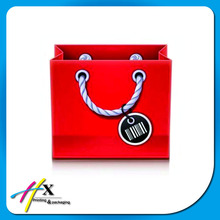 red quality product big capacity paper bag with rope handle