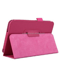 Standing leather case for huawei S7-601 tablet Stand leather 2 fold standing leather case