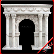 Hand Carved Cheap stone arch door frame carving YL-M025