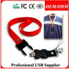 X-Mas Promo Gift Keychain Lanyard Cartoon Bear USB Flash Drive 2.0 , Free sample