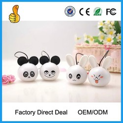 Cute animal shape portable mini speakers with factory price