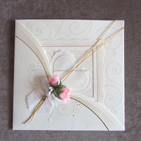 2014 New Royal White Meeting Invitation Cards