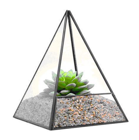 Новые продукты геометрическая стиль стеклянная бутылка террариум, большой стекло террариум золотой цвет 12 стекло террариум изде
