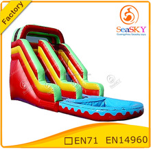 EN14960 commercial use inflatable water slide , inflatable floating water slide , inflatable water slide for kids and adults