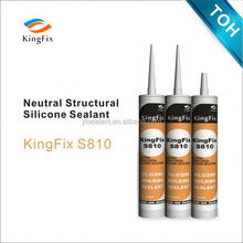 Kingfix S810 black for Windscreen sealant repair /neutral structural silicone sealant